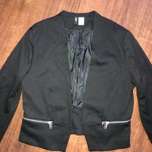 Black cropped blazer, H and M